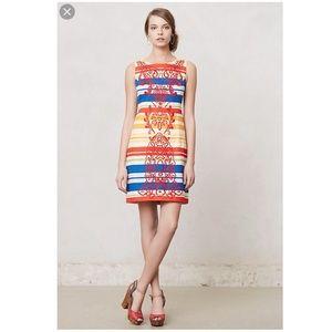 ANTHROPOLOGIE Tabitha Striped Banded Totem Dress